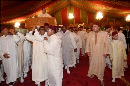 Noces princières - SM le Roi préside la traditionnelle cérémonie du henné - G2