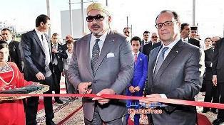 الملك محمد السادس وفرنسوا هولاند