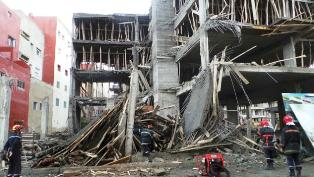 انهيار عمارة سكنية في طور البناء بالدار البيضاء