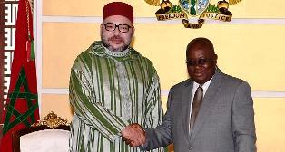 محمد السادس والرئيس الغاني